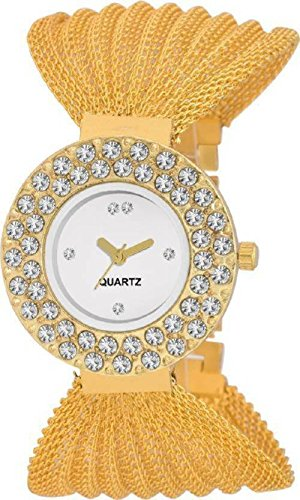 OpenDeal New Jaal Golden Ring Diamond Watches For Girls & Womens OD-W238