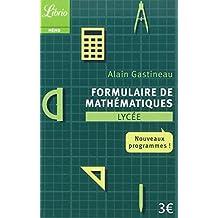Formulaire de mathématiques Lycée : Nouveaux programmes