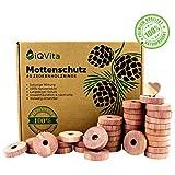 Natürlicher Mottenschutz aus Zedernholz - 40 Mottenringe - 100% Naturprodukt - Hervorragende Mottenabwehr für Kleiderschrank - BIO - Mottenfalle - Chemiefrei