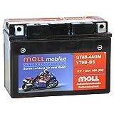 Moll mobike AGM Motorradbatterie YT9B-BS 7,5Ah 12V...