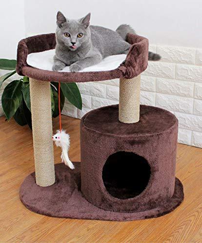 Massivholz-podest (Cat Climbing-Cat-Produkte Cat Climbing Katzennest Kratzbaum Massivholz EIN Kleines Katzennest-Podest Für Säulengreifer Katzenhaus,Brown)