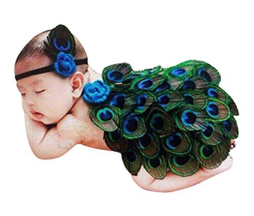 Imagen de happy cherry  trajes falda media de fotografía disfraces apoyo de fotos para bebés 3  6 meses niñas conjunto de 2 baby newborn photography props  pavo real