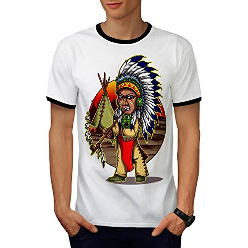 Chef Indische Kostüme (Einheimische indisch Chef Chef Men M T-shirt Zurück |)