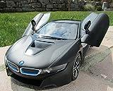 RC BMW i8 mit Flügeltüren 27Mhz Schwarz Lizenz Modell 34cm