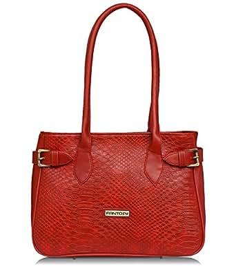 Fantosy red women f style shoulder bag (red) (FNB-822)