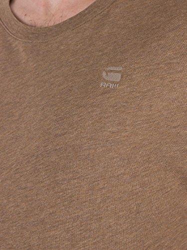 G-Star Herren 2 Stück Gerade Fit-Logo-T-Shirts, Braun Braun