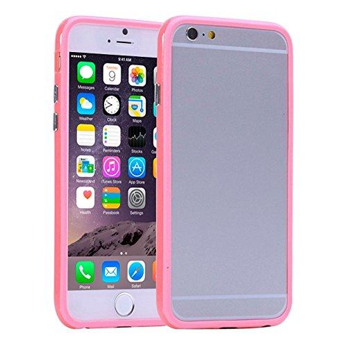 Wkae Case Cover reine farbe tpu - und plastik - stoßstange rahmen für iphone 6 &65 ( SKU : S-IP6G-0081Y ) S-IP6G-0081F
