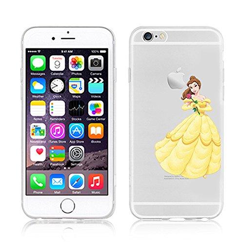 Coque souple en TPU pour Apple iPhone 5/SE Motif princesse Disney, plastique, Belle, APPLE IPHONE 5SE