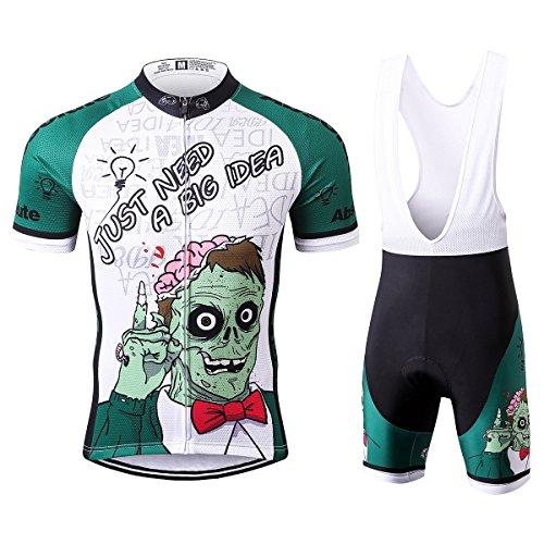 s® Herren Just Need a Big Idea Sport & Freizeit MTB Fahrradbekleidung Radtrikot und Trägerhose Anzüge 2X-Large (Halloween-zeichen-ideen)