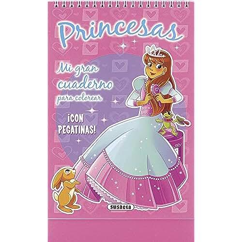jirafa kawaii para colorear y mas Princesas (Mi gran cuaderno para colorear)