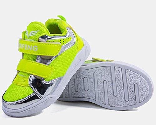 Einfache Leichtgewicht Frühling Sommer Mesh Schnellverschluss Sportliche Jungen Sneakers Sportsschuhe Grün