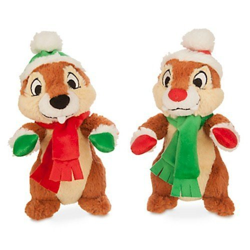 Disney Chip 'n Dale Holiday Plush Set - Small - 8'' by Disney -