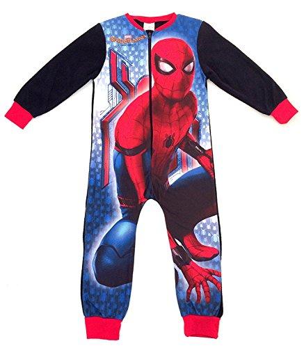 Kinder-Pyjama aus Vlies mit Aufdruck, Einteiler, Alterstufe: 1–8Jahre Gr. 7-8 Jahre, Marvel Spiderman - Spiderman