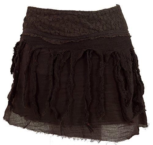 GURU-SHOP, Mini Falda de Goa de Psytrance, Falda Hippie, Falda Wrap, F