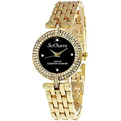 Gold Watch 106 So Charm Made with Swarovski Crystals from