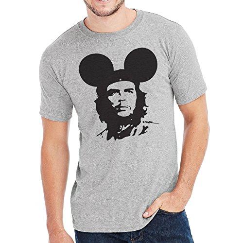 Che Guevara Funny Mickey Mouse Herren T-Shirt Grau