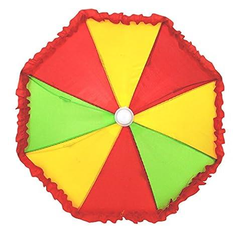 erdbeerclown - Clown Kostüm Accessoire- bunter Regenschirm- Clownskostüm- Harlekin, Mehrfarbig (Hula Boy Kostüm)