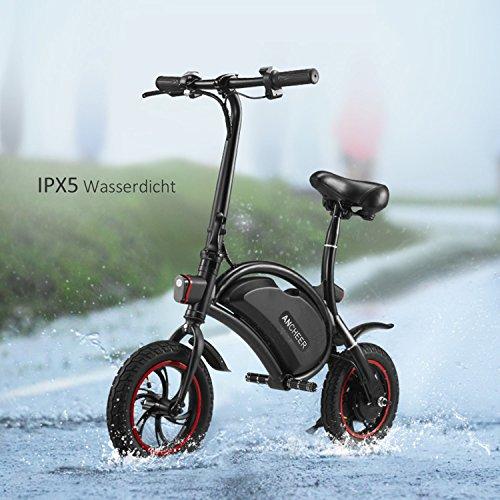 Ancheer E-Scooter Faltbar, Elektroroller Pedelec, Höchstgeschwindigkeit bis 25 km/h, 36V 4.4AH LG Zelle Batterie, 250W Hochgeschwindigkeit-Bürstenlose Heckmotor, intelligente App-Funktion Schwarz - 8