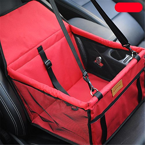 Hung Kai Waterproof Breathable Pet Car Mat Safety Car Seat Belt Cover Booster Bag Pet Carrier Seat Protector Travelling Car Cushion for Dog Cat Pet (Carrier Pet Dog)