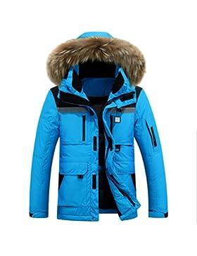 MHGAO Abajo Chaqueta de los hombres acolchado para mantener caliente la capa del invierno , days blue , xxxl