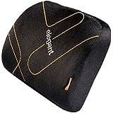 Elegant Memory Foam Lumber Support Cushion Pillow Black For Tata Safari Storme (Pack Of 1 Pc)