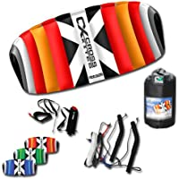 Cross Kites 4,5 m Quattro Vier Line Power Stunt Kite (blau)