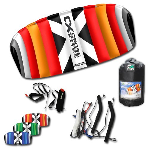 Cross Kites 1,5 m Quattro Vier Line Power Stunt Kite (blau)