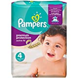 Pampers Premium Protection Active Fit Nappies Monthly Saving Pack - Size 4, Pack of 168
