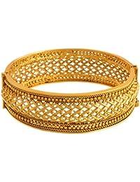 JFL - Traditional Ethnic One Gram Gold Plated Designer Openable Kada For Women & Girls.