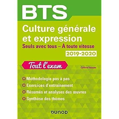 BTS Culture générale et Expression 2019/2020 - Seuls avec tous/A toute vitesse