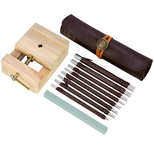 Jenify Holzschnitzerwerkzeug-Set mit Case for Rubber Stamp Nuclear Carving Hand-Drucken Papier Schneiden von Holzbearbeitungswerkzeugen und mehr -