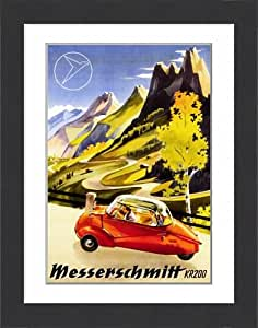 Affiche encadrée Messerschmitt KR 200 Enveloppes bulles de voiture, de la publicité, 1955