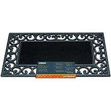 Gardman 82347 - Felpudo de goma (marco de hierro fundido), color negro