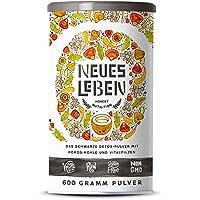 Neues Leben | Detox Shake | Formel mit Aktivkohle, Matcha, Aloe Vera, tonischen Vitalpilzen | 600 Gramm