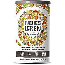 Neues Leben   Detox Shake   Formel mit Aktivkohle, Matcha, Aloe Vera, tonischen Vitalpilzen   600 Gramm