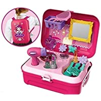 TWISHA ENTERPRISE Beauty Set for Girls Kids Makeup Toy Suitcase (Backpack Beauty Suitcase)