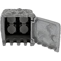 Distributore a 4 prese elettriche da esterni giardino pietra look IP44 grigio Globo 37001-4