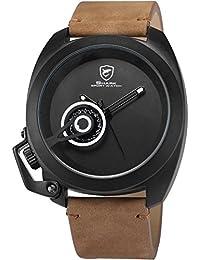 Shark SH451 - Reloj Hombre de Cuarzo, Correa de Cuero Marr¨®n