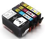 4 Druckerpatronen mit Chip kompatibel für HP 934 XL/935 XL Set HP Officejet Pro 6830 6820 6230 6835 6836 6220 6800 Serie 6825 Hp officejet 6812 6815 Drucker Tinte Patrone mit Chip + Füllstandsanzeige