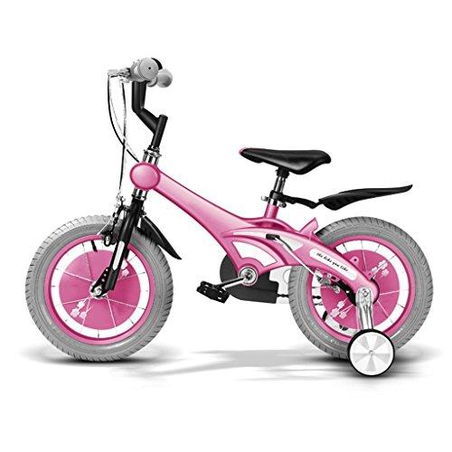 Les vélos d'enfants 14 Pouces bébé Mountain Bike Cadeau créatif Mode Mignon garçon Fille (Couleur : Rose, Taille : 14 inches)