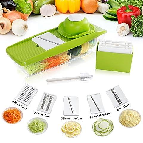 Lifewit Mandoline Multifonctionnelle / Trancheuse à Légumes en Acier Inoxydable