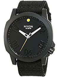 Nixon Herren-Armbanduhr Ranger 45  All Black Analog Quarz Nylon A514001-00