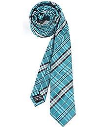 RAY±JAY Schmale karierte Krawatte 5cm Karo handgenäht