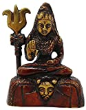 #5: SKAVIJ™ Brass Shiva Statue for Car Dashboard Small Religious Idol -Height 3 Inches