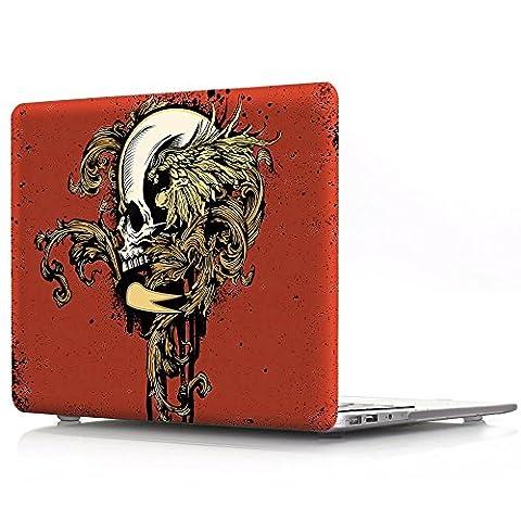 Proelife 2en 1Premium Ultra mince PC Coque rigide Housse de protection et d'une même Motif TPU solide Couvercle de clavier pour MacBook 30,5cm (modèle: A1534) Macbook 12'' Halloween-Skull