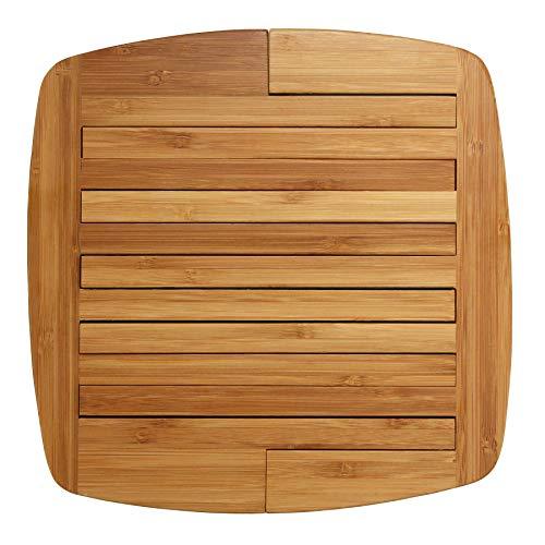 Totally Bamboo BA206628 Dessous de plat rétractable en bambou 23 x 23 cm