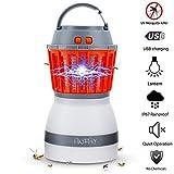 ANFAY USB Elektroschock-Typ Bug Zapper Moskito-Killer-Lampe 2 in 1 LED Camping Laterne IP67 Wasserdicht Wiederaufladbare 2200mAh Nicht Strahlend Nicht-Chemische Stumm Schädlinge Killer