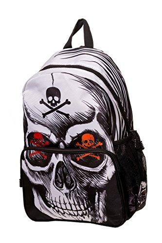 Banned Toxic Skull Rucksack Backpack - Black/One Size