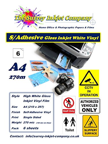 a4-inkjet-vinyl-gloss-white-self-adhesive-sticker-label-paper-water-resistant-6-sheet-pack-270micron