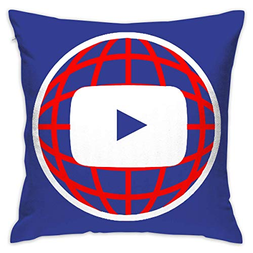 You Tube Soft Throw Pillowcase for Couch Sofa 18 X 18 Inches